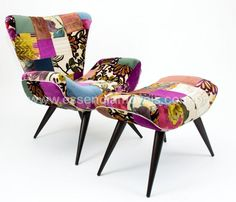 Poltrona patchwork sala pinterest home and patchwork for Fauteuil patchwork eames