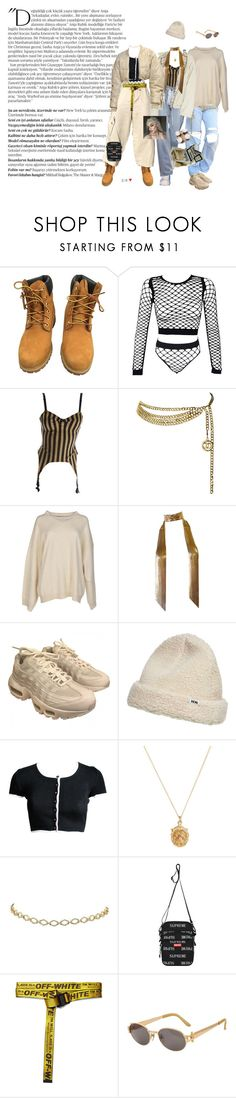"""""""lucky"""" by brainlesss ❤ liked on Polyvore featuring Balmain, Timberland, Jean-Paul Gaultier, Chanel, STELLA McCARTNEY, Whiting & Davis, NIKE, Wood Wood, Rachel Essex and 3M"""