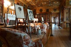 The Library at Longleat House in Wiltshire