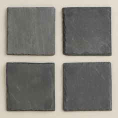 One of my favorite discoveries at WorldMarket.com: Square Slate Coasters, Set of 4 for $8