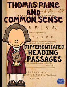 Thomas Paine And Common Sense Differentiated Reading Passa More