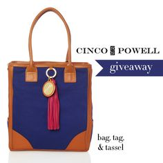 Crossing my fingers that I win this adorable Cinco Powell bag from the College Prepster giveaway : )