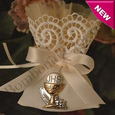 Italian First Communion Pouch with Italian Silver Chalice myitalianfavors.com™