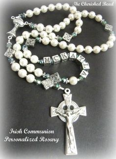 Personalized Irish Irish First Communion by TheCherishedBead, $47.00