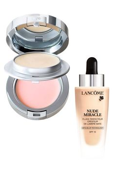 Looking parched and sallow? Rather than reach for the Spackle, use La Prairie's line-filling under-eye and lip salves, then try Lancôme's radiance-boosting Nude Miracle, which transforms all skin tones from dull to dewy, pronto. Lancôme Nude Miracle Perfecting Fluid, $48, sephora.com; La Prairie Anti-Aging Eye and Lip Perfection à Porter, $150, nordstrom.com.