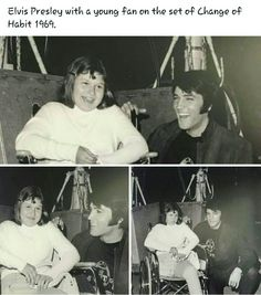 Elvis Presley and young fan on set of Change of Habit, 1969