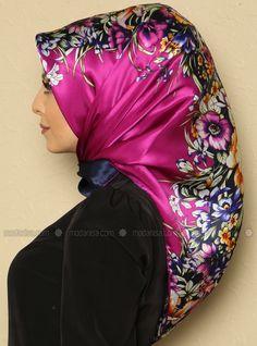 Mixed Flowers Dj Pure Silk Scarf - Armine - Scarves - Modanisa Attacher Un  Foulard, f146a4dd73f