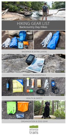 Hiking gear list for day hikes in the backcountry