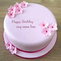 online create beautiful pink flowers birthday cake with your name and share your facebook,instagram and social friend groups. online wishes your best friend birthday with pink flowers cake images.write name on pink flowers birthday cake images. birthday wishes with name cake photo free download. happy birthday cake with name free download. free Pink Girls Birthday Cake With Flowers With Name Photo. online write name on lovely cake and share social media friends.