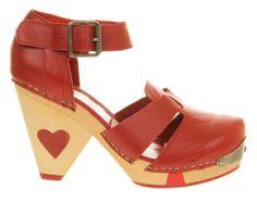 93d422668421 Lola Ramona Liza Heart Heel Red Leather - High Heels