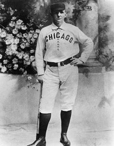 Cap Anson 1st pro baseball player to get 3000 hits. Oct 3, 1897 in his final major league game, Cap hits 2 home runs & becomes oldest player at age 45 to hit a home run. Listed as #2 on list of Top 100 Chicago Cubs All Time behind Ernie Banks.  Cap was born in Marshalltown, Iowa.