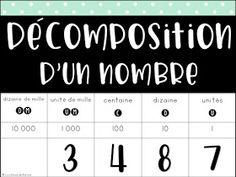 La classe de Karine: Nouveautés pour la 4e année -Mathématique Cycle 3, Number Sense, Periodic Table, Homeschool, Appris, Math Equations, Teaching, Classroom