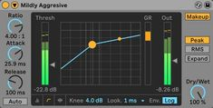 Ableton's Compressor audio effect. Ableton Live, You Sound, Music Production, The Expanse, Audio, How To Apply