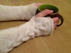 Knitted Fingerless Gloves, Knitted Arm Warmers, γάντια Fingerless Gloves Knitted, Arm Warmers, Arms, Weapons