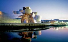 The Guggenheim Museum Bilbao in Spain....