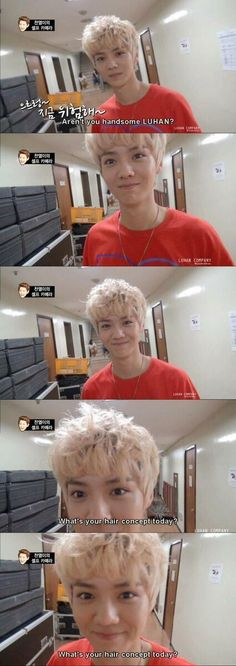 EXO Luhan just being himself in The First Box DVD Lulu dear <3