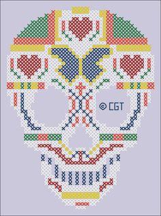 Cross Stitch Skull - Chart ❥ 4U // hf