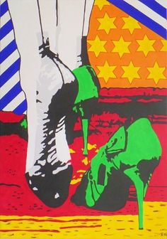"Allesandra Tiller   ""Lost Shoe"" 2016 70 x 100 cm - Acryl auf Leinwand"