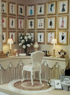 Brook Tucker Put About. More minis please.: Photo Brook Tucker Put About. More minis please. Vitrine Miniature, Miniature Rooms, Miniature Houses, Miniature Furniture, Dollhouse Furniture, Furniture Box, Barbie Room, Barbie House, Small World