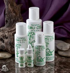 Emu Oil is a deep penetrating, highly moisturizing nutritional supplement for your skin.  It does not clog pores which allows the skin to breathe during the healing process.  Emu oil is rich in essential fatty acids that feed skin to aid new cell development, promoting faster healing. It is also used to lessen or eliminate keloids and reduce recent scarring.