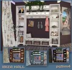 Lana CC Finds - Sims 4. Ibiza Hall by pqSim4...