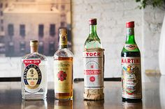 """East Village restaurant Dufresne's beverage manager Travis Brown is now offering a rotating serious of """"vintage"""" cocktails using rare 1960s and '70s bottles plucked directly from the on-set alcohol carts dotting the offices at Cooper Sterling. Alder's bottle collection includes labels from well-known companies like Seagram's with some boozy backstories that you can find at DuJour.com"""