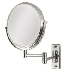 "Zadro Chrome Dual-Sided Dual-jointed Magnifying Wall-Mount Makeup Mirror by Brookstone. $49.99. Zadro Chrome Dual-Sided Dual-jointed Magnifying Wall-Mount Makeup Mirror. Get a closer, clearer view with the Dual Sided Magnification Non-lighted Dual-jointed Wall Mount Chrome Mirror. A vanity mirror is an absolute ""must have"" for any woman. Looking your best is easy when you have a magnified vanity mirror at your side. It makes doing your hair and make-up easier than ever be..."