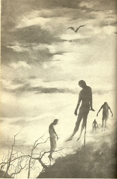 """scarystoriesiread: """" Stephen Gammell's Vampire Illustrations I'd just cracked open a copy of the Eerie Series' s Meet The Vampire and received a pleasant (for me, that is) surprise inside. A decade before Scary Stories to Tell in the Dark, Stephen..."""