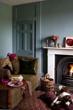 Living Room Inspiration, Interior Inspiration, Design Inspiration, Burgundy Room, Scottish Decor, Scottish Cottages, Autumn Interior, Victorian Farmhouse, Victorian House