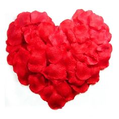 1000pcs Lifelike Artificial Silk Red Rose Petals Decorations for Wedding Party