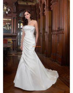 trägerloser Ausschnitt Glamourös & Dramatisch Herbst Brautkleider 2014