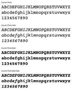 "Courier Prime. Free download. The Courier typeface was designed in 1955 by Howard ""Bud"" Kettler for IBM. In July 2012, type designer Alan Dague-Greene designed a new typeface that matched the metrics of Courier... Courier Prime."
