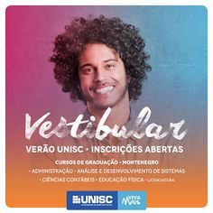 INFORMATIVO GERAL: Vestibular de Verão da UNIC MONTENEGRO 2017