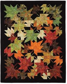 New Leaves Quilt Pattern Keepsake Quilting features a rich collection of high-quality cotton quilting fabrics, quilt kits, quilting patterns, and more at the best prices! New Leaves designed by Innovations. Features Seasons by Lunn Studios, shipping to st Fall Quilts, Scrappy Quilts, Mini Quilts, Quilting Fabric, Halloween Quilts, Quilting Projects, Quilting Designs, Quilting Ideas, Keepsake Quilting