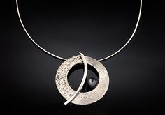 The Balance Orbit Necklace: Chi Cheng Lee: Silver & Stone Necklace | Artful Home