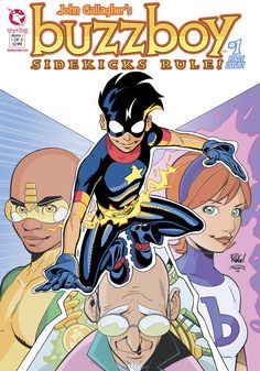 BuzzBoy, by John Gallagher. A VERY cheesy and old-timey superhero comic, heavy on fun and nostalgia. Unfortunately it seems to have been abandoned some time ago.