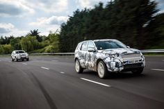Land Rover Discovery Sport prototype track testing