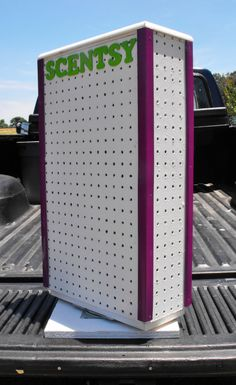 Scentsy Pegboard Turntable Display with by NancysQuiltandCrafts, $60.00