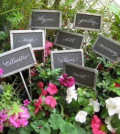 Garden Love. Galvanized Plant Markers (set Of 6) Label With Paint, Marker,  Or Chalk! | For The Home | Pinterest | Gardens, Plant Markers And Of