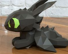 Ideas How To Train Your Dragon Toothless Plush Etsy For 2019 Paper Crafts Origami, 3d Origami, Toothless Toy, Paper Mache Animals, Egg Carton Crafts, Origami Dragon, Bookmarks Kids, Dragon Crafts, Paper Artwork
