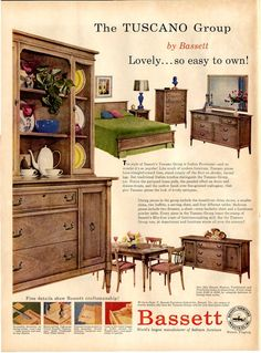 Vintage Bassett Furniture Ad 1957