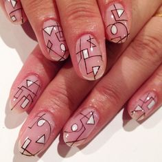 Geometry art nails #Geometry #avarice #art #nails #nailart #design #nailsalonavarice #kayo  nailsalon-ava.com (NailSalon AVARICE)