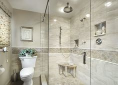 Shower Marble Wainscoting Design Ideas, Pictures, Remodel, and Decor - page 10
