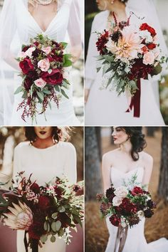 Bottom left Bride arrangement and like the lipstick