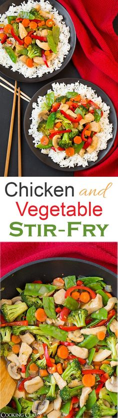 Chicken and Vegetable Stir Fry - this is my FAVORITE stir fry recipe! It's packed with veggies and it tastes delicious! Chicken and Vegetable Stir Fry - this is my FAVORITE stir fry recipe! It's packed with veggies and it tastes delicious! Chicken And Vegetables, Veggies, Asian Recipes, Healthy Recipes, Vegetable Stir Fry, Vegetable Spiralizer, Vegetable Samosa, Spiralizer Recipes, Vegetable Dishes