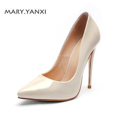 3ec856cd5c5  Women  Pumps Lady  Shoes Patent  Leather Super High  Thin  Heels