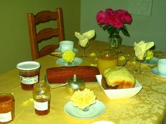 Breakfast at one of our B&Bs