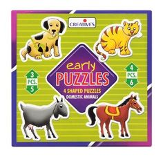 Creatives Early Puzzles Sea Creatures 4 puzzles 3,4,5,6pcs
