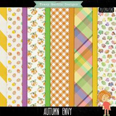 FREE Autumn Envy Papers FB Freebie By Tracy Martin Scrapbook Designs
