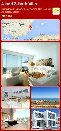 4-bed 3-bath Villa for Sale in Guardamar Villas, Guardamar Del Segura, Alicante, Spain ►€497,755